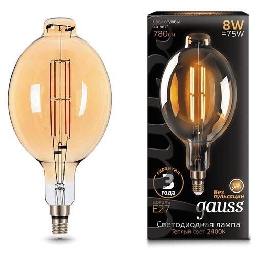 Лампа светодиодная gauss 151802008, E27, 8Вт лампа светодиодная gauss 33138 e14 c37 8вт