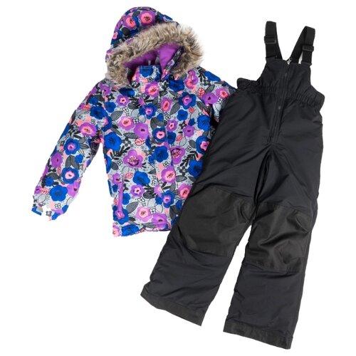 Купить Комплект с полукомбинезоном Buki F 19 M 708 размер 119, electrik viola, Комплекты верхней одежды