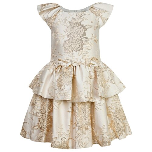 Платье David Charles размер 110, бежевый