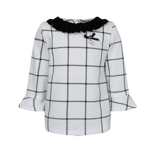 Купить Блузка Special Day размер 116, белый/клетка, Рубашки и блузы