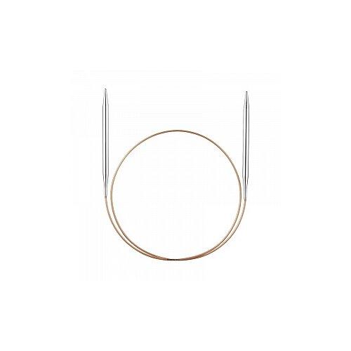 Купить Спицы, круговые, супергладкие, никель, №3, 5, 50 см., ADDI