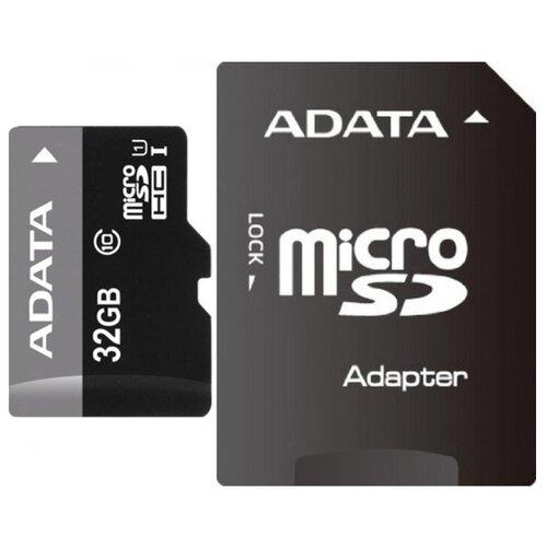 Фото - Карта памяти ADATA Premier microSDHC Class 10 UHS-I U1 32GB + SD adapter карта памяти microsdhc 16gb transcend uhs i u1 sd adapter ts16gusdu1