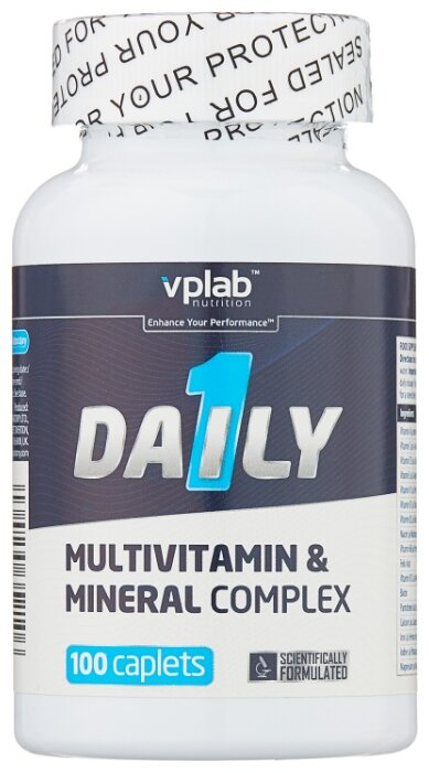 Минерально-витаминный комплекс VP Laboratory Daily 1 (100 каплет) нейтральный