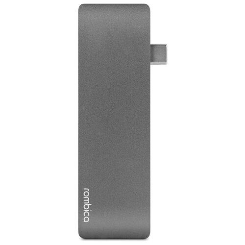 USB-концентратор Rombica Type-C M2, разъемов: 3, gray