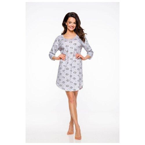 Фото - Хлопковая женская сорочка Jurata с енотами, серый, размер L сорочка taro размер l серый