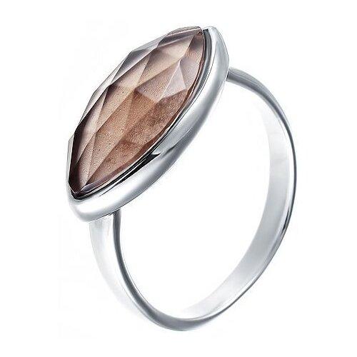 цена на JV Кольцо с раухтопазами из серебра TR61R-1-KO-SQ-001-WG, размер 17