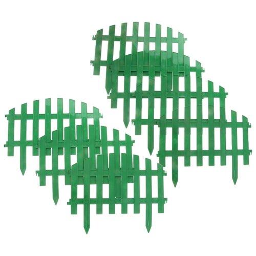 Забор декоративный PALISAD Винтаж, зеленый, 3 х 0.28 м