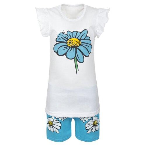 Купить Комплект одежды M&D размер 98, белый/бирюзовый, Комплекты и форма