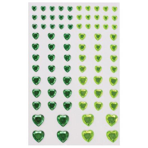 Купить Остров сокровищ Стразы для декорирования Сердце (80 шт.) зеленый/салатовый, Декоративные элементы и материалы