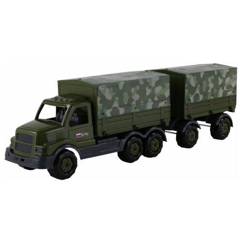 Грузовик Полесье военный с прицепом Сталкер (48653) 76 см ВС РФ