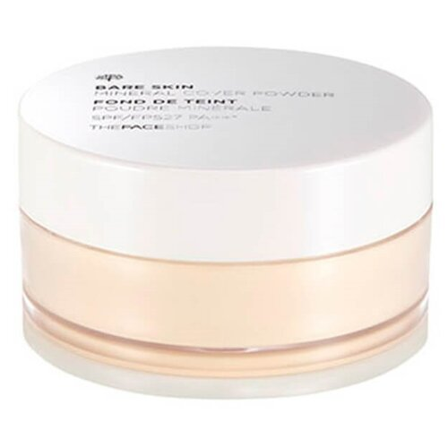 TheFaceShop Пудра рассыпчатая финишная Bare Skin Mineral Cover Powder SPF27 PA++ 203 natural beige