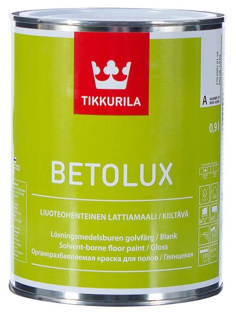 Краска алкидная Tikkurila Betolux глянцевая