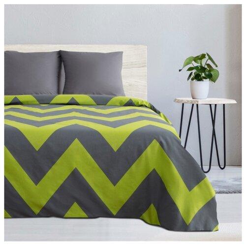 Постельное белье 1.5-спальное Этель Зеленый шеврон, поплин, 70 х 70 см зеленый/серый постельное белье iv7399 зеленый поплин ясельный