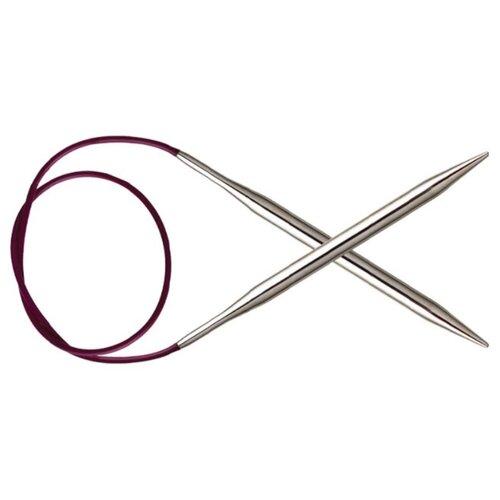 Купить Спицы Knit Pro Nova Metal 11353, диаметр 4.5 мм, длина 100 см, серебристый