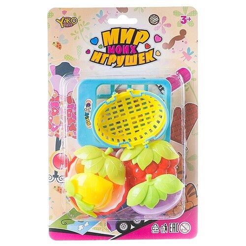 Купить Набор продуктов с посудой Yako Мир micro Игрушек M6344-1 разноцветный, Игрушечная еда и посуда