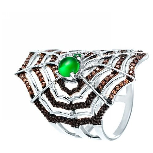 JV Кольцо с фианитами из серебра TPR15020C-KO-001-WG, размер 16 jv женское серебряное кольцо с куб циркониями в позолоте wr22790 bm 001 vr 16 5