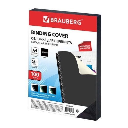 Фото - Обложка BRAUBERG односторонняя для переплета A4 250 г/м², картон, глянец черный 100 шт. демосистема brauberg solid a4 236719