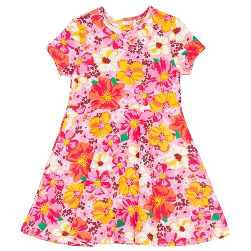 Платье ALENA размер 116-122, желтый/розовый свитшот alena размер 116 122 белый