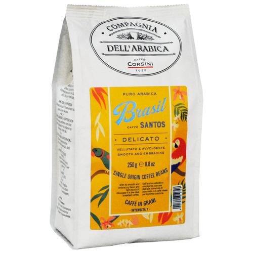 Фото - Кофе в зернах Compagnia Dell` Arabica Brasil Santos, 250 г кофе молотый compagnia dell arabica brasil santos 125 г