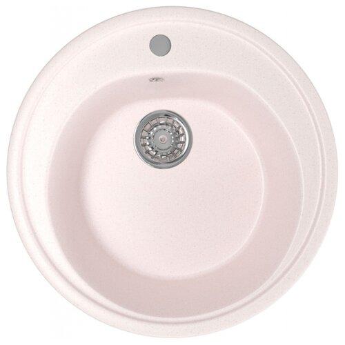 Врезная кухонная мойка 50 см Mixline ML-GM11 светло-розовая 311 врезная кухонная мойка 42 см mixline ml gm14 бежевая 328