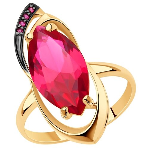 Diamant Кольцо из золота с корундами 51-310-00358-1, размер 18