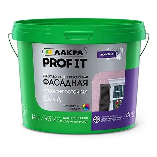 Краска акриловая Лакра фасадная PROF IT матовая белый 14 кг