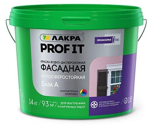 Краска акриловая Лакра фасадная PROF IT матовая — купить по выгодной цене на Яндекс.Маркете