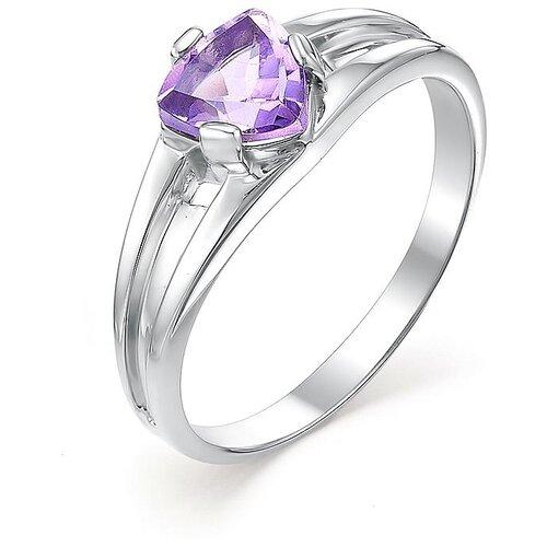 АЛЬКОР Кольцо с 1 аметистом из серебра 01-0374-00АМ-00, размер 17 алькор кольцо с 1 аметистом из серебра 01 0578 00ам 00 размер 17 5