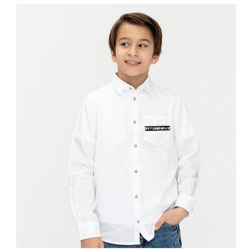 Рубашка Button Blue размер 104, белый, Рубашки  - купить со скидкой