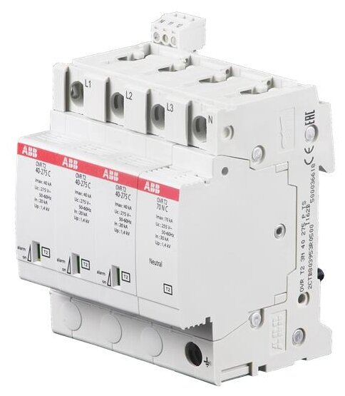 Устройство защиты от перенапряжения для систем энергоснабжения ABB 2CTB803953R0500