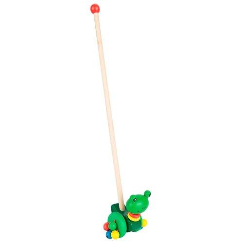 Каталка-игрушка Игруша Лягушка (i-101014215) зеленый магнитный конструктор игруша magic magnetic i jh6883