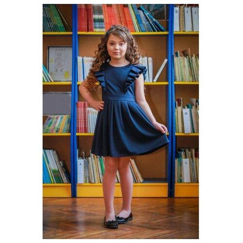 Купить Платье Ladetto 1С4 размер 32-134, темно-синий, Платья и сарафаны