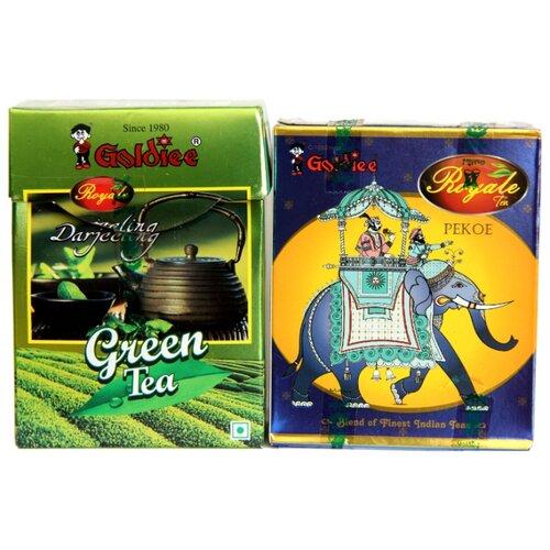 Чай черный и зеленый Goldiee Пекое Black Pekoe и Дарджилинг Darjeeling Green Tea, набор
