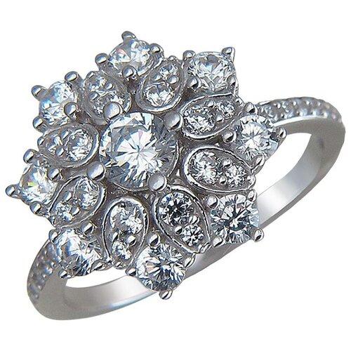 Эстет Кольцо с фианитами из серебра 01К1510530, размер 17.5 ЭСТЕТ