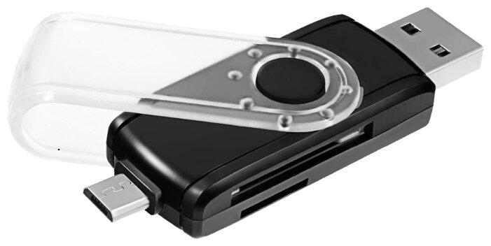 Картридер Ginzzu USB 3.0/micro USB OTG переходник-картридер для компьютеров и смартфонов, поддержка форматов SD/SDXC/SDHC/MMC microSD/SDXC/SDHС, цвет