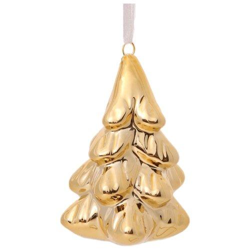 Елочная игрушка Magic Time Золотая елка (80475) золотистый