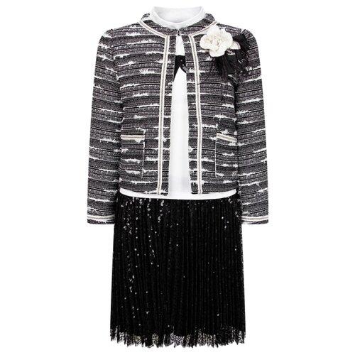 Купить Комплект одежды Lesy размер 128, черный/белый, Комплекты и форма