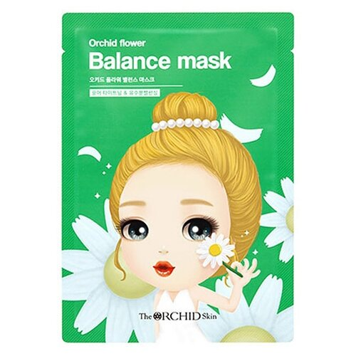 The Orchid Skin Тканевая маска для сужения пор Orchid Flower Balance Mask, 25 г the skin house зеленая глиняная маска для сужения пор pore tightening clay pack 100 мл
