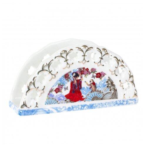 Салфетница Polystar Global Art Японские мотивы SL1270616 в подарочной упаковке белый/красный/синий