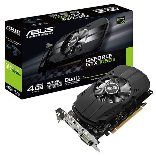 Видеокарта ASUS Phoenix GeForce GTX 1050 Ti 1290MHz PCI-E 3.0 4096MB 7008MHz 128 bit DVI HDMI DisplayPort HDCP Retail