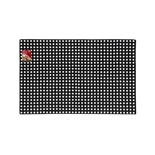 Придверный коврик VORTEX Ячеистый грязесборный, размер: 1.5х1 м, черный цена 2017