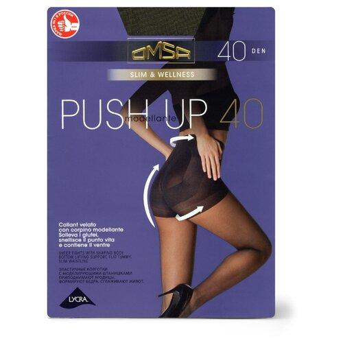 Колготки Omsa Push-Up 40 den, размер 2-S, fumo (серый) колготки omsa omsa 70 den размер 2 s fumo серый