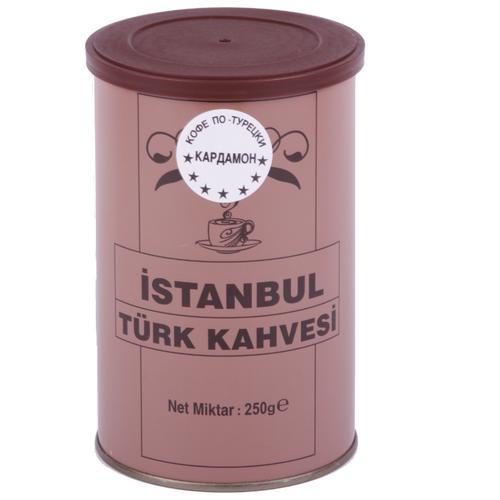 Кофе молотый İstanbul Türk Kahvesi c кардамоном, жестяная банка, 250 г кофе молотый i̇stanbul türk kahvesi c ароматом карамели жестяная банка 250 г