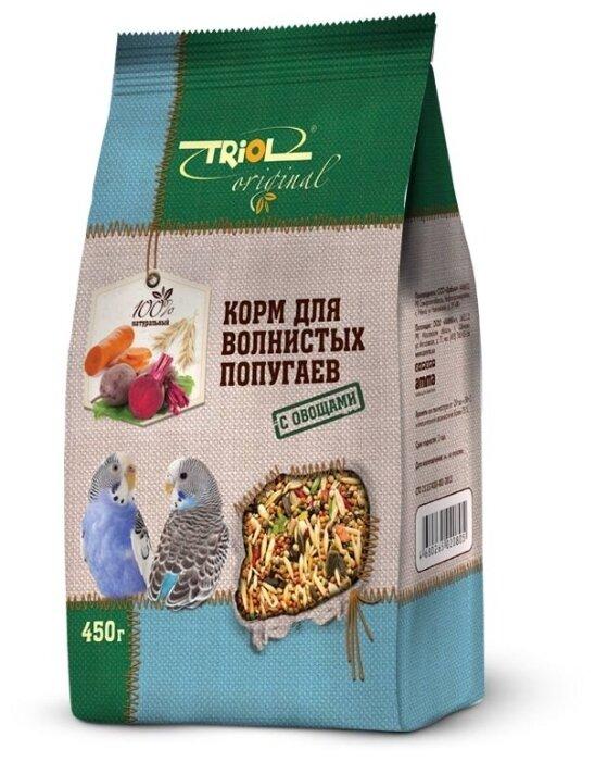 Корм Triol Original для волнистых попугаев 450 г (450 г, Овощи)