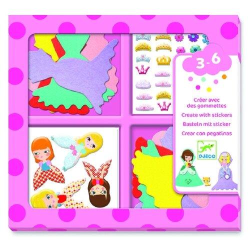Купить DJECO Набор для творчества Принцессы (09053), Поделки и аппликации