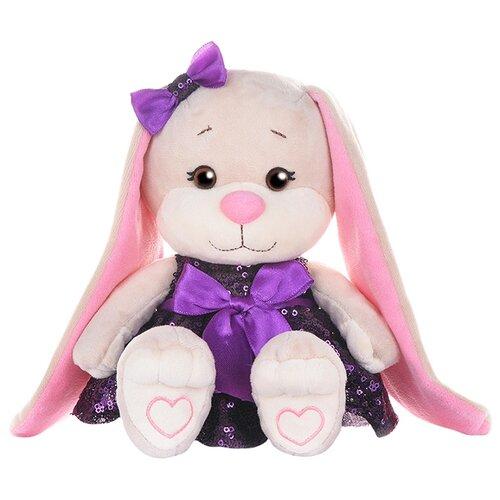 Купить Мягкая игрушка Jack & Lin Зайка Лин в фиолетовом платьице с пайетками 20 см, Мягкие игрушки