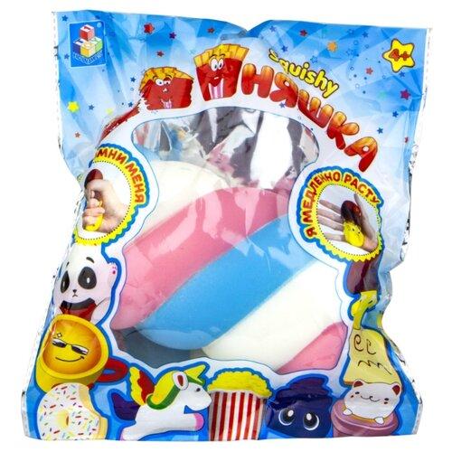 Игрушка-мялка 1 TOY Маршмеллоу Т14705 белый/голубой/розовый