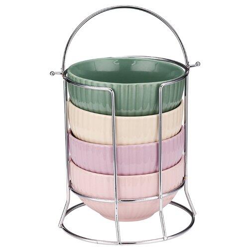 Peterhof Набор салатников 12,5 см, 4 шт. зеленый/бежевый/розовый