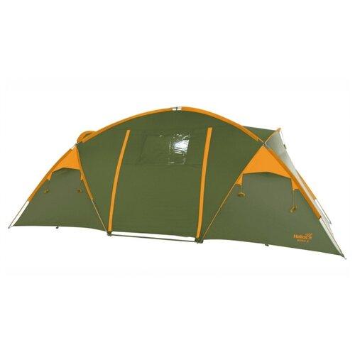 Палатка HELIOS BORA 6 зеленый/желтый