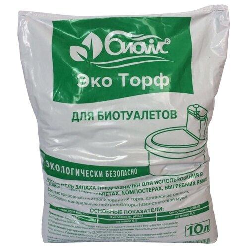 БИОwc Наполнитель для биотуалетов ЭкоТорф 10 л экоторф горшочек торфяной 60 60 упаковка 20шт